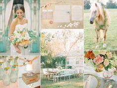 Shabby Chic Peach & Mint Wedding Inspiration Board