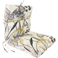 Caviar Seaweed Pattern Universal Chair Cushion with French Edge