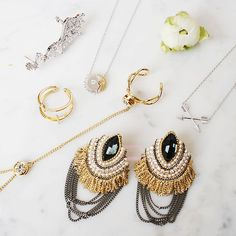 Wednesday Absolutely in love with these #jewellery  Never want to take them off !!!  #earcuff #jewelry #rings #necklace #ootd #wiw #wtw #fashion #fashionjewelry #gold #autumnlook #todaylook #whatiwore #whattowear #needitnow #followme