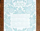 2014BuchdruckKalender von ShopKatharineWatson auf Etsy