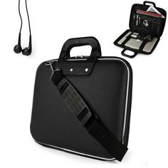 Uniquely designed SumacLife Brand Black Ultra Durable Reinforced 15 Inch Cady Shell Sports Bag for all models of the Apple MacBook Pro 15 Inch Laptop (Mac OS X Mountain Lion, Retina Display, 15 Inch macbook pro, Newest Version) + Earphones SumacLife Cady edition hard shell Carrying Case for Apple Macbook Pro 15 Inch. The cady is uniquely designed with extra dividers, zipper pockets and mesh pocket... #SL-SumacLife #PC_Accessory