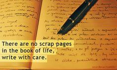 I write with care!