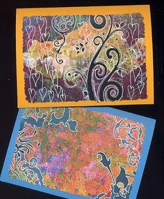 Joanna Grant Mixed Media Art: Quick & Easy Gelli Print Greeting Cards