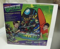 New Teenage Mutant Ninja Turtles Classic Hideaway Tent Play Fun Toy #PlayHut  sc 1 st  Pinterest & Playhut Teenage MUTANT NINJA TURTLES Classic Hideaway Tent Pop Up ...