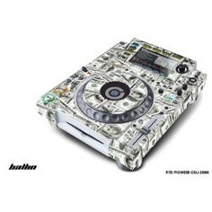 Designer Decal for:Pioneer DJ , CDJ-2000 Professional Multi Player-BIGBALLIN