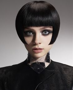 Short Black straight iconic bob womens haircut hairstyles for women