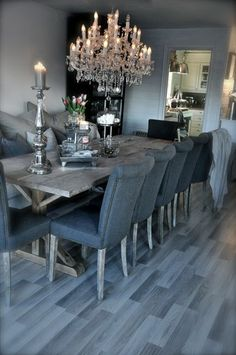 beautiful greys, minus the chandelier