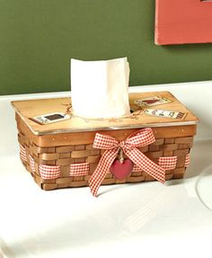 Country Heart Tissue Kleenex Box Cover Rectangle Primitive Bathroom Home Decor In Home Garden