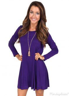 More Than Words Purple Dress | Monday Dress Boutique