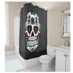 >> Click to Buy << Creative Europe Style Personalized Skull Printing Multicolor Shower Curtain Polyester Waterproof Bathroom Shower Curtain #Affiliate