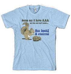 Squirrel T-shirt ADD funny t-shirt vintage tshirt cool