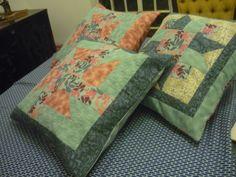 Almofadas azul florida  conjunto