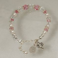Personalized Mom Wedding Bracelet