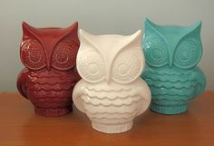Hootie - Ceramic Owl Coin Bank  -   Classic White. $30.00, via Etsy.