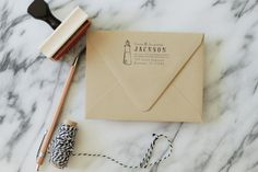 Nautical Address Stamp - Nautical Wedding - Light House - by Substation Paperie