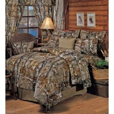 Realtree All Purpose Camo 8 Pc King Comforter Bedding Set - Camouflage Hunting Bed Sets, Full Comforter Sets, King Comforter, Bedding Sets, Grey Comforter, Queen Bedding, Sheets Bedding, Camo Bedding, The Ranch