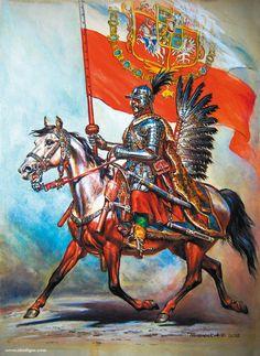 Chorągiew Husarska Koronna Ziemi Mazowieckiej added a new photo. Poland History, Early Modern Period, Knight Armor, Illustration, Knights Templar, Medieval Fantasy, Military Art, Renaissance, Fiction