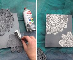 Doily Canvas Art DIY Tutorial | Hip Home Making