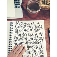 Song of Solomon 6:8 Hand lettering by @allegraletters