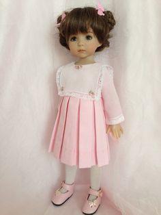Effner Little DArlings  Pink Stripped Dress