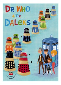 """""""Dr. Who and the Daleks"""" Print by eren (Eren Blanquet Unten) on Etsy"""