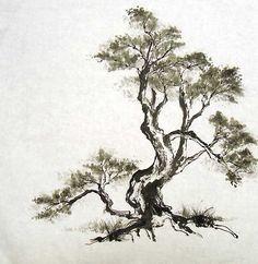 Sumi-e tree designsinkart.com