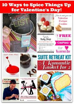 10 Ways to Spice Things Up for Valentine's Day Collage