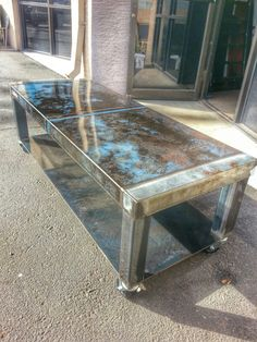 Small table with shelf. www.weldhouse.com