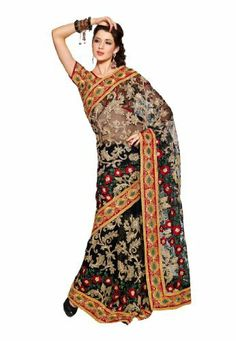 Fabdeal Indian Designer Net Black Embroidered Saree Fabdeal, http://www.amazon.de/dp/B00INWJV7U/ref=cm_sw_r_pi_dp_Ap8otb15DR47Z