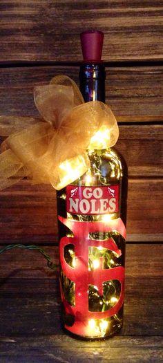 I love this Florida State lighted wine bottle. #Seminoles #Noles #FSU