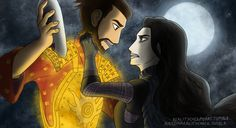 You Are My Quest- Hanzo and Sariatu, Kubo's father and mother's first meeting from Kubo and the Two Strings Laika Studios, Art Studios, Kubo And The Two Strings, Movies Playing, Samurai, Manga Love, Disney Fan Art, Stop Motion, My Ride