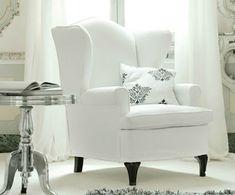 weißer Sessel klassischer Stil
