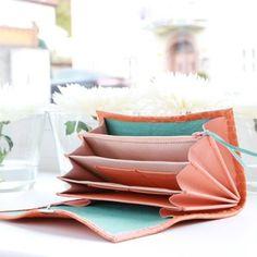 Damen Portemonnaie Leder Kroko Orange