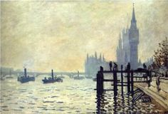 The Thames below Westminster - Claude Monet