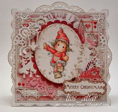 I positively love this Christmas card!!!  So, so darling!!  This lady has some precious cards!!!