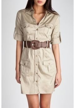 Belted Safari Dress