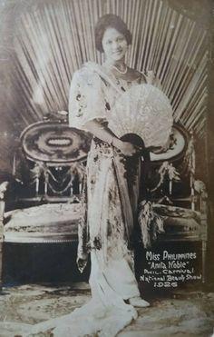"Miss Philippines ""Anita Noble"" Philippine Carnival National Beauty Show Miss Philippines, Manila Philippines, Model Minority, Jose Rizal, Philippine Art, Filipiniana, Filipino, Book Art, Carnival"