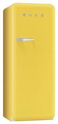 #Yellow #Smeg #fridge #vintage #retro