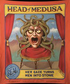 Vintage Head of Medusa Freak Show Circus Poster Print Vintage Circus Costume, Vintage Circus Posters, Vintage Carnival, Vintage Clown, Vintage Art, Vintage Photos, Dark Circus, Circus Art, Circus Theme
