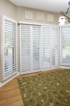 Plantation Shutters are a great fit for sliding doors as well.