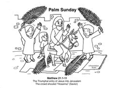 Palm Sunday Free Bible Coloring Pages, Triumphal Entry, Palm Sunday, Bible Stories, New Testament, Savior, God, Christians, Nun