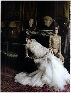 Vogue Italia September 2011 - Valentino Haute Couture Models: Allaire Heisig, Brenda Kranz, Mirte Maas, Iris Egbers, Vasilisa Pavlova