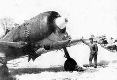 雪の中の成増飛行場と疾風戦闘機