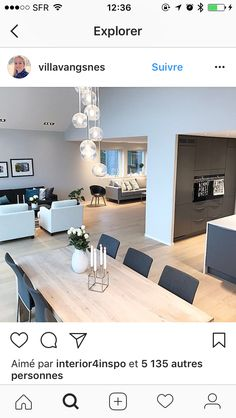 Home And Living, Living Room, Small Apartments, Architecture, My Dream Home, Decoration, Office Desk, Dining Table, Sofa