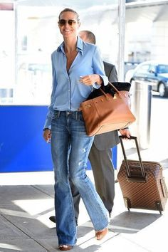 Outfitinspiration women over 40 50 Heidi Klum Business Wear News You Can Use The transition to busin Mode Outfits, Jean Outfits, Casual Outfits, Style Outfits, Fashion Mode, Denim Fashion, Fashion Outfits, Style Fashion, Fashion Trends