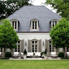 French country exterior, french country house, mansions homes, veranda, c. French Country Exterior, Country Home Exteriors, French Country Dining, Modern French Country, French Country Cottage, Country House Plans, French Country Decorating, Country Style, French Cottage Garden