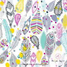 Screen Shot at Textile Patterns, Textile Design, Print Patterns, Pattern Designs, Autumn Inspiration, Design Inspiration, Rachael Taylor, Poppy Pins, Feather Pattern