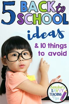 These are great tips for Back to School, especially for new teachers! I really like number two!