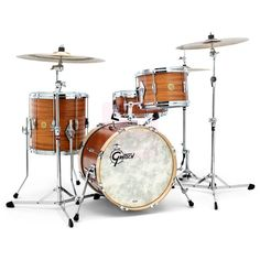 "Gretsch USA Custom Limited Ribbon Mahogany • 18""x14"" ; 12""x8"" ; 14""x14"" ; 14""x5.5"" (10 lugs) • Specifications: Limited to 12 kits ; Satin Classic Maple BD Hoops ; Micro Sensitive Throw-off"