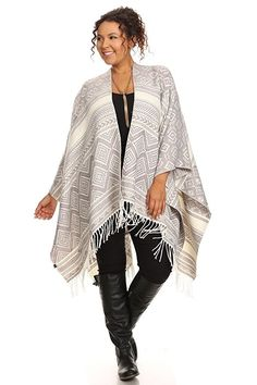 Navajo Blanket Aztec Tribal Scarf Poncho Fringe Cape Storage Bag WHITE -- You can get additional details at the image link. Fashion 2017, Fashion Brands, Blanket Scarf, Shawls And Wraps, Cotton Tee, Latest Fashion For Women, Bag Storage, Heather Grey, Autumn Fashion